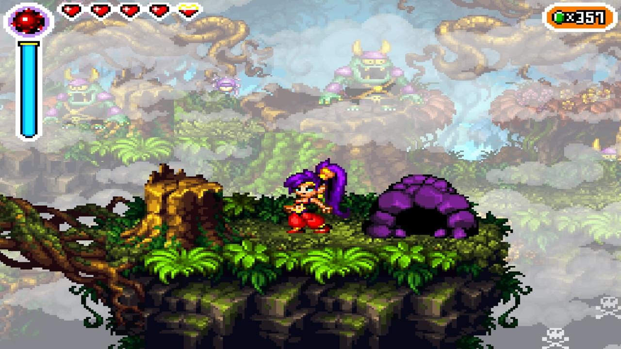 Η επιλογή Wide Screen δεν κολακεύει ιδιαίτερα τη Shantae!