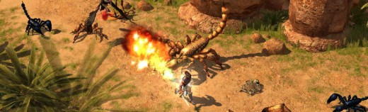 Titan Quest battle