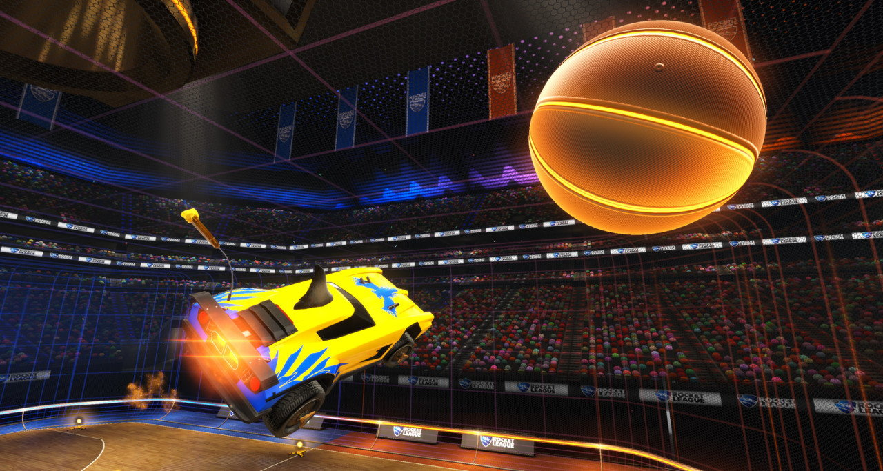 Rocket League Hoops mode